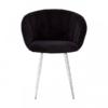 Vogue Black Velvet Dining Chair 4