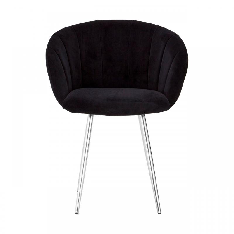 Vogue Black Velvet Dining Chair