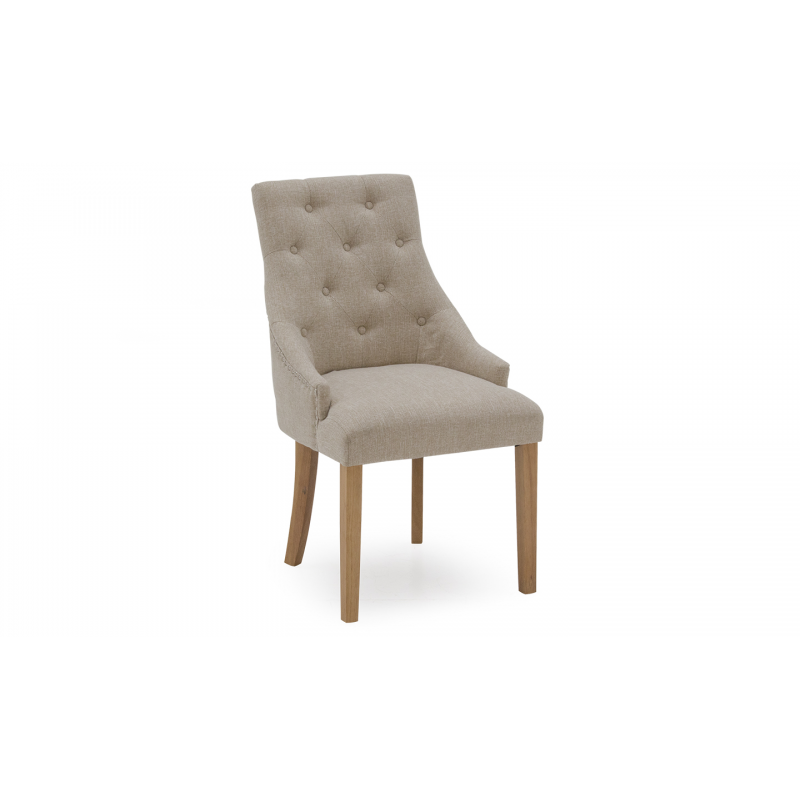 hobbs dining chair - linen beige