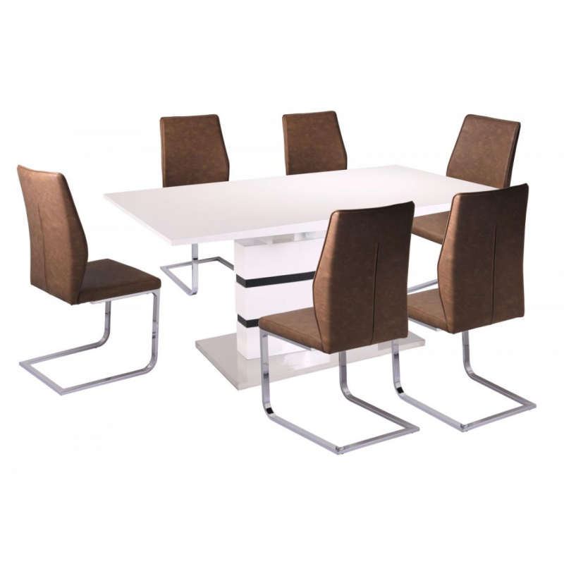 Leona Brown Dining Chair (Number of Chairs: 8)