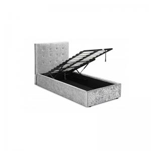 rimini crushed velvet single bed