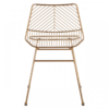 District Gold Metal Wire Chair 3