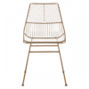 District Gold Metal Wire Chair 6
