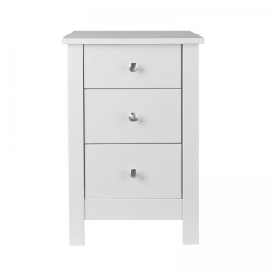 Florence 3 Drawer White Bedside 1