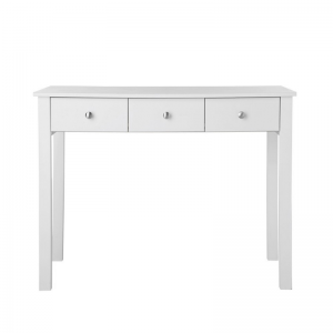 Florence 3 Drawer White Dressing Table 2