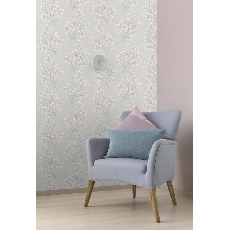 Grandeco Willow Pink Wallpaper
