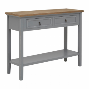 Henley Antique Grey Console Table 1