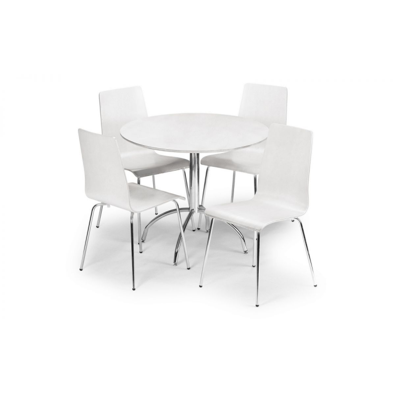 Mandy White Round Dining Table
