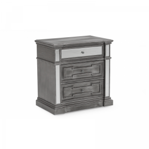 Ophelia Silver Mirror Bedside Table
