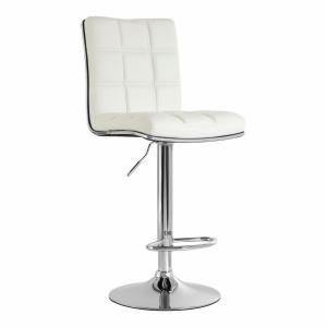 Tavor White Faux Leather Bar Chair 2