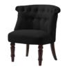 Alderwood Black Fabric Chair