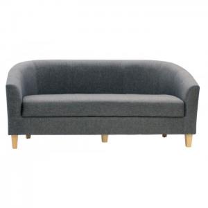 Claridon 3 Seater Sofa Linen Fabric Dark Grey