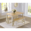 3-Mark-Harris-Chichester-Dining-Table-and-2-Benches-Oak-and-Cream