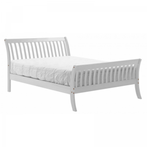 Lapaz Pine Double Bed - White