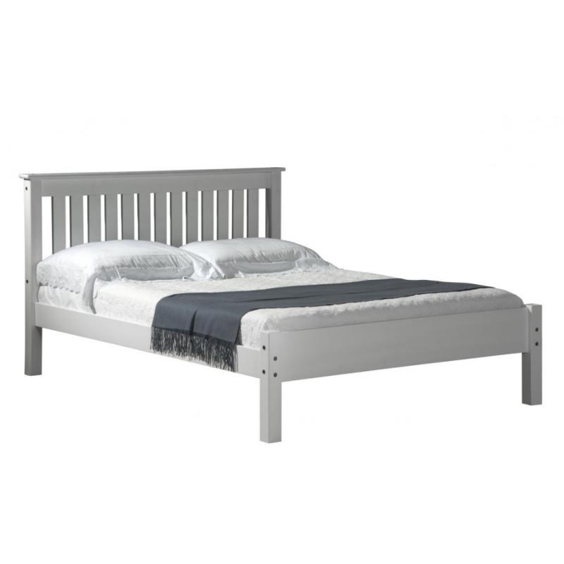 Manila Pine Double Bed - White
