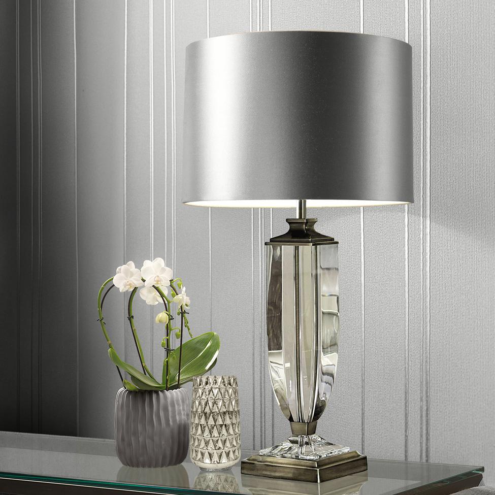 Muriva Silver Metallic Stripe Wallpaper