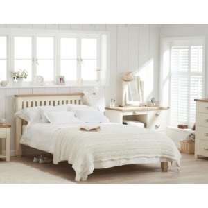 Sandringham Oak and Cream Double Bed Frame