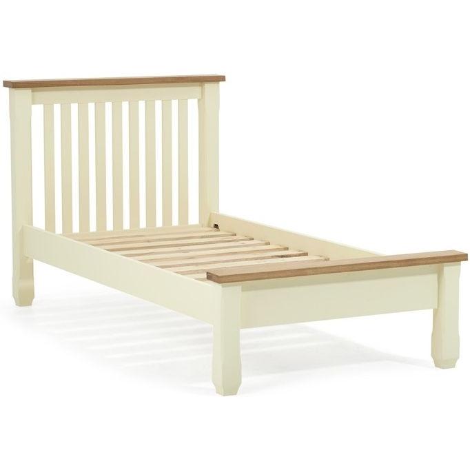 Sandringham Oak and Cream Single Bed Frame