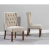 Stefini Dark Wood Dining Chairs (Pairs) - Beige