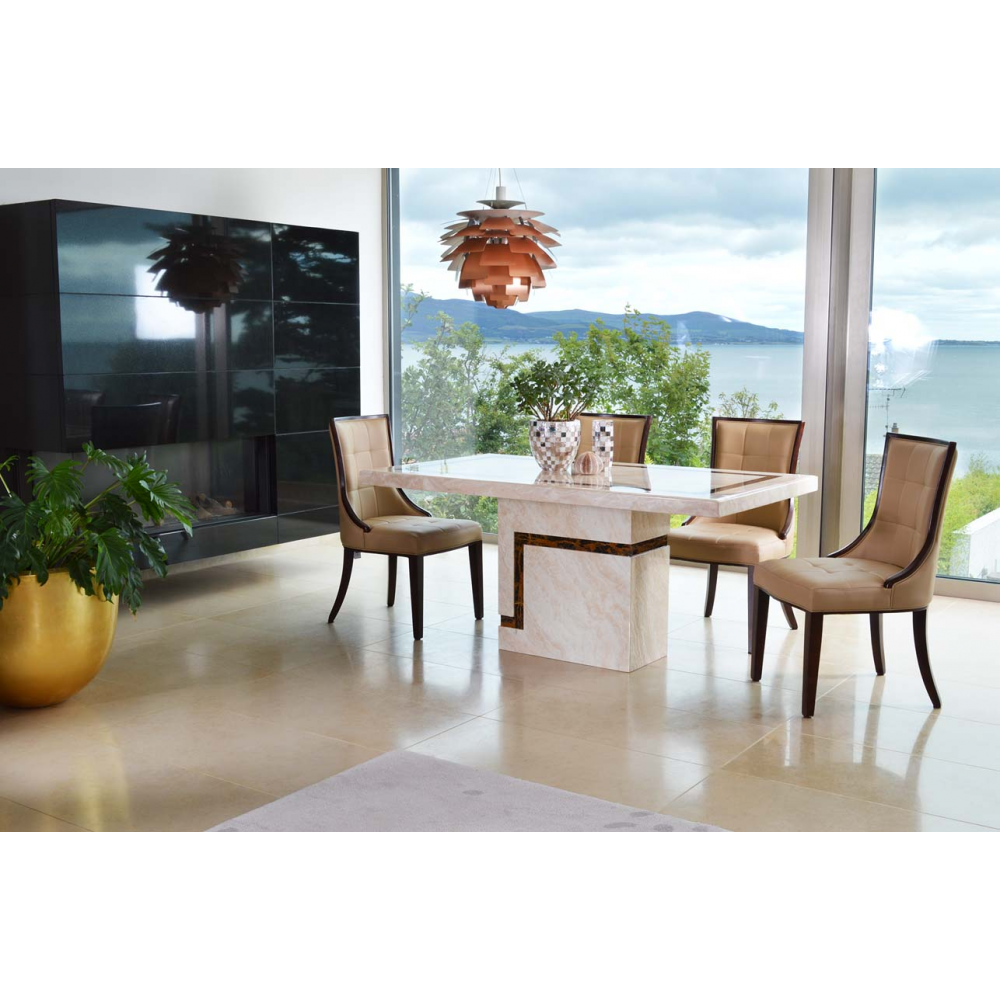 Filippo Dining Table 1800 4 Seater Marble
