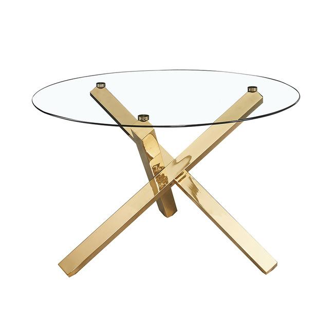 Capri Glass Top Dining Table