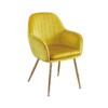 Lara Dining Chair Ochre Yellow With Gold Legs
