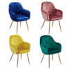 Lara Dining Chair Vintage With Gold Legs