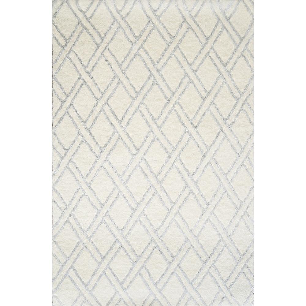 Diamond Hand-Tufted Wool Rug (Colour: Ivory, Rug Size: 160 x 230)