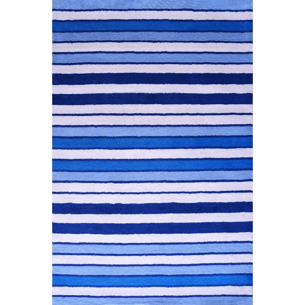 Elana Handloom Wool Rug (Colour: Blue, Rug Size: 160 x 230)