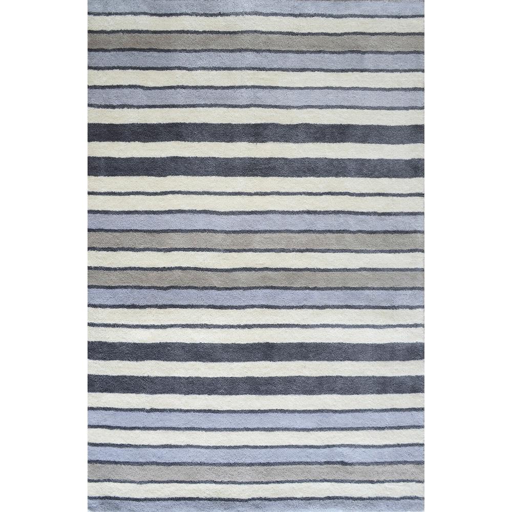Elana Handloom Wool Rug (Colour: Grey, Rug Size: 160 x 230)