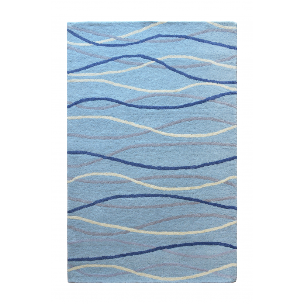 Filey Hand-Tufted Wool Rug (Rug Size: 160 x 230, Colour: Blue)