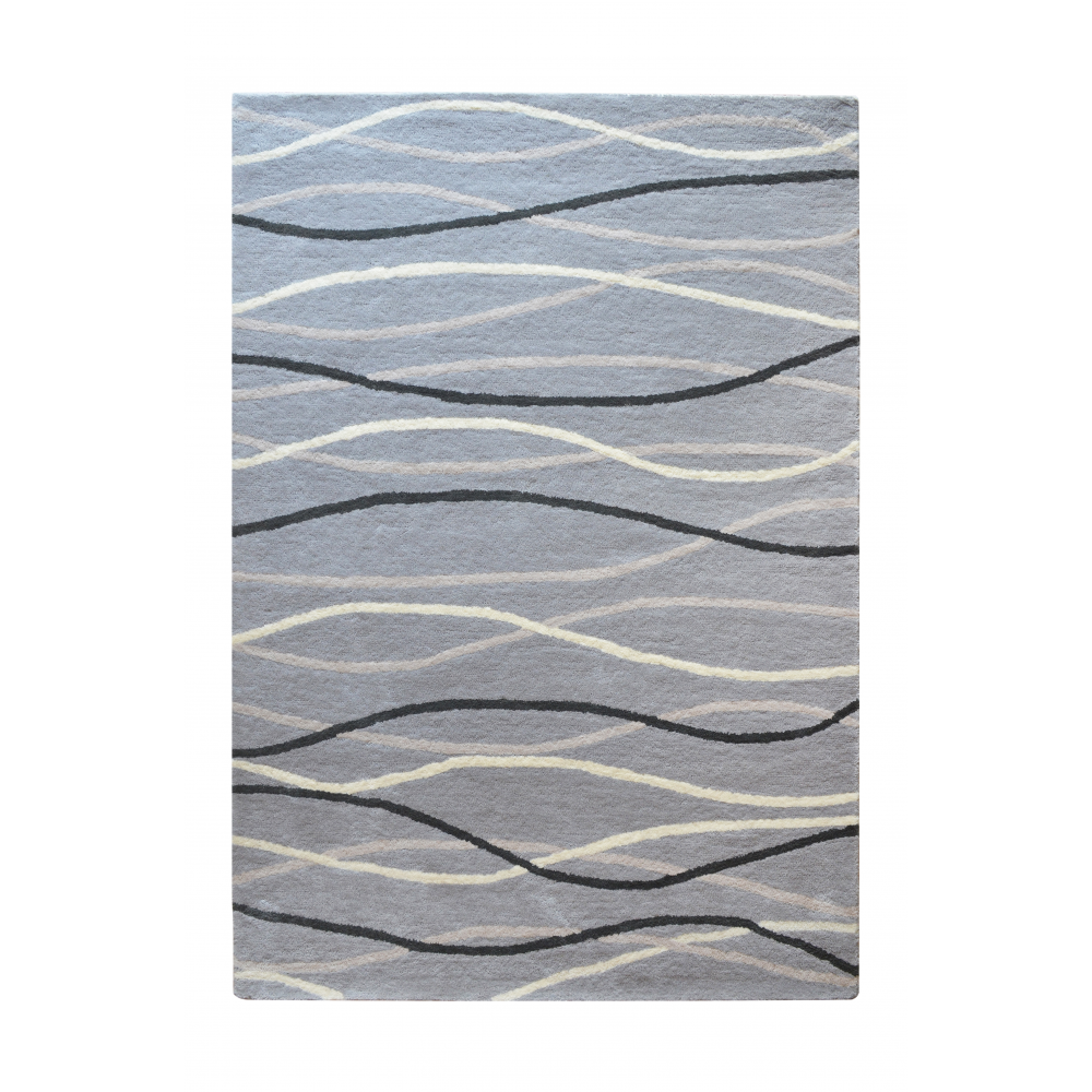 Filey Hand-Tufted Wool Rug (Rug Size: 160 x 230, Colour: Grey)