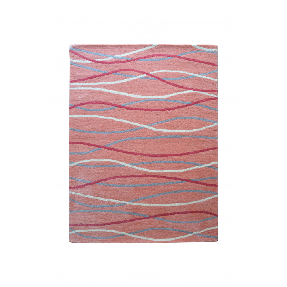 Filey Hand-Tufted Wool Rug (Rug Size: 160 x 230, Colour: Pink)