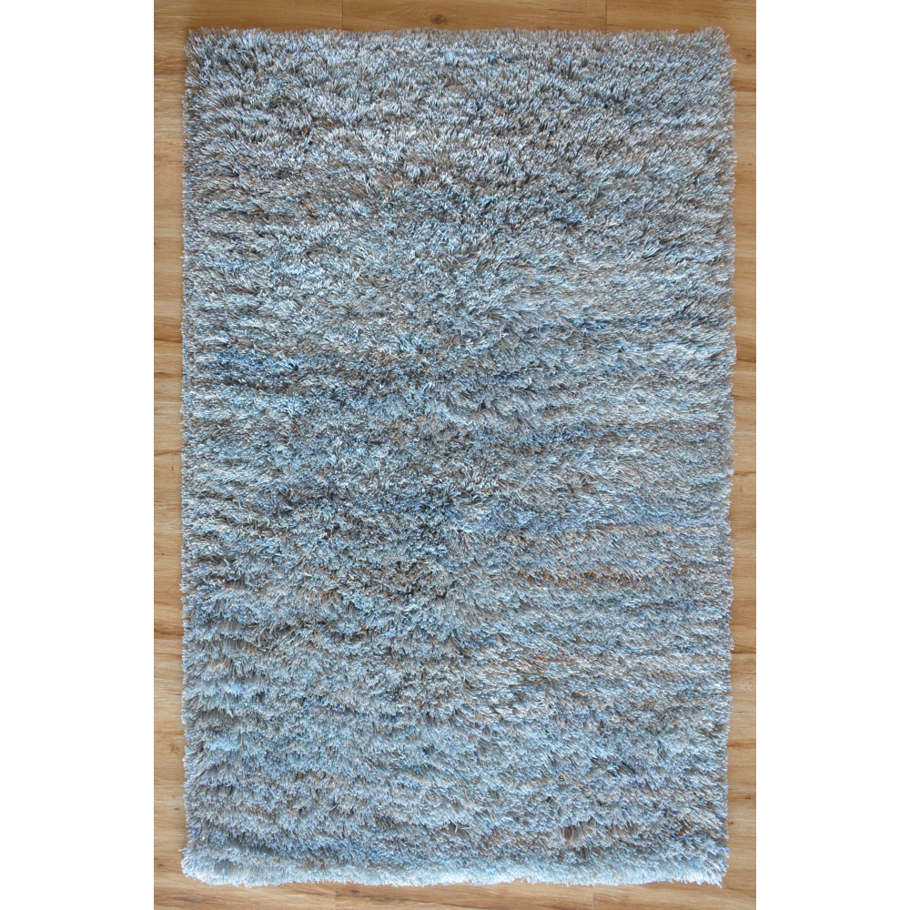 Karma Shaggy Loom-Tufted Rug (Colour: Blue, Rug Size: 160 x 230)