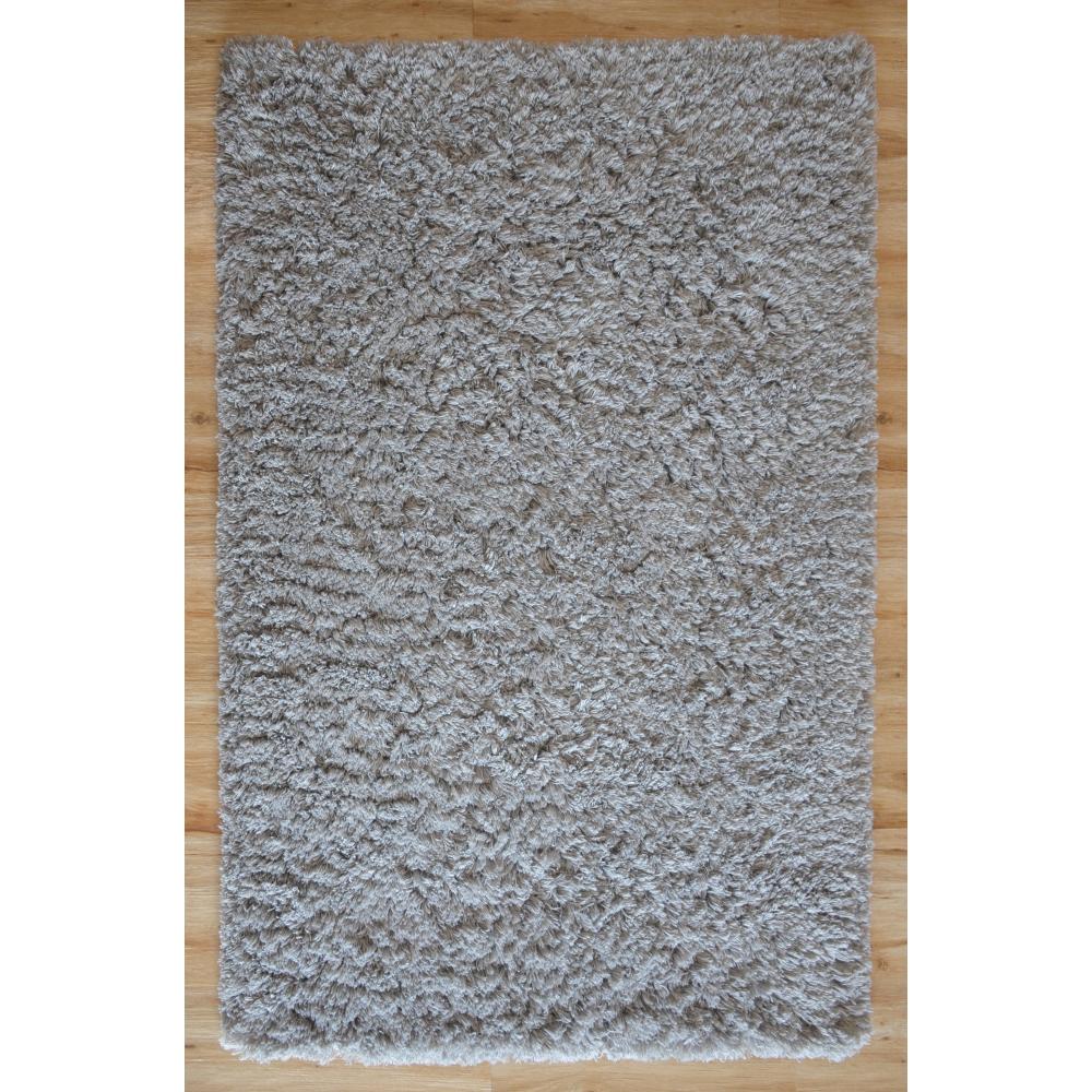 Karma Shaggy Loom-Tufted Rug (Colour: Grey, Rug Size: 160 x 230)