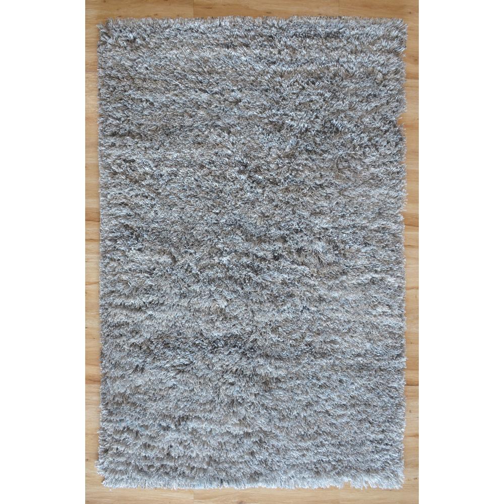 Karma Shaggy Loom-Tufted Rug (Colour: Silver, Rug Size: 160 x 230)