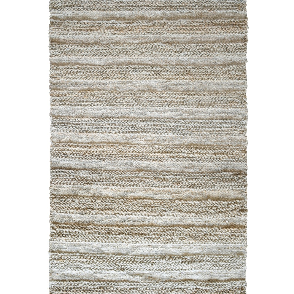 Natural Hand-Woven Flatweave Rug (Rug Size: 160 x 230, Design: Knots)