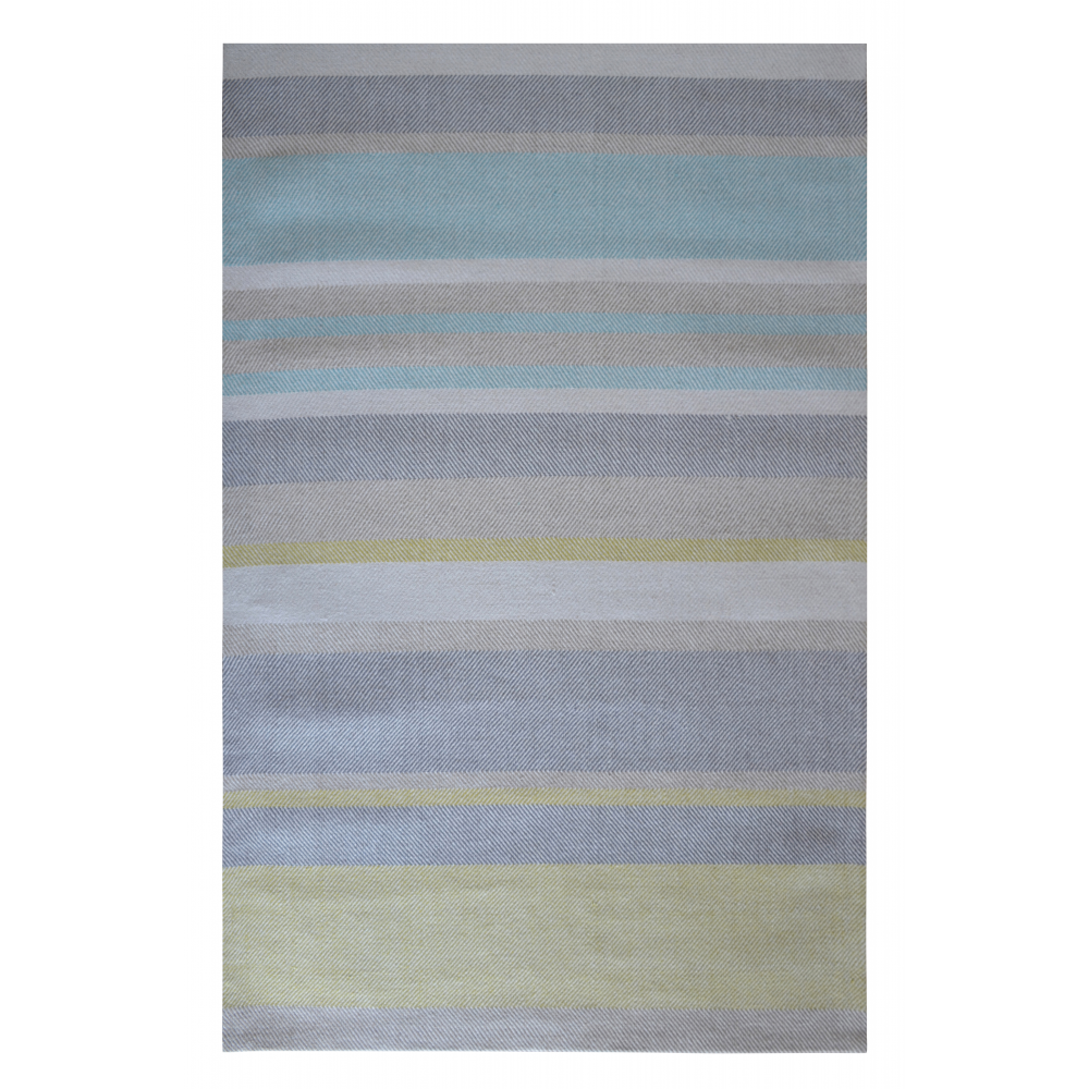 Norwich Hand-Woven Wool Rug (Colour: Aqua, Rug Size: 160 x 230)