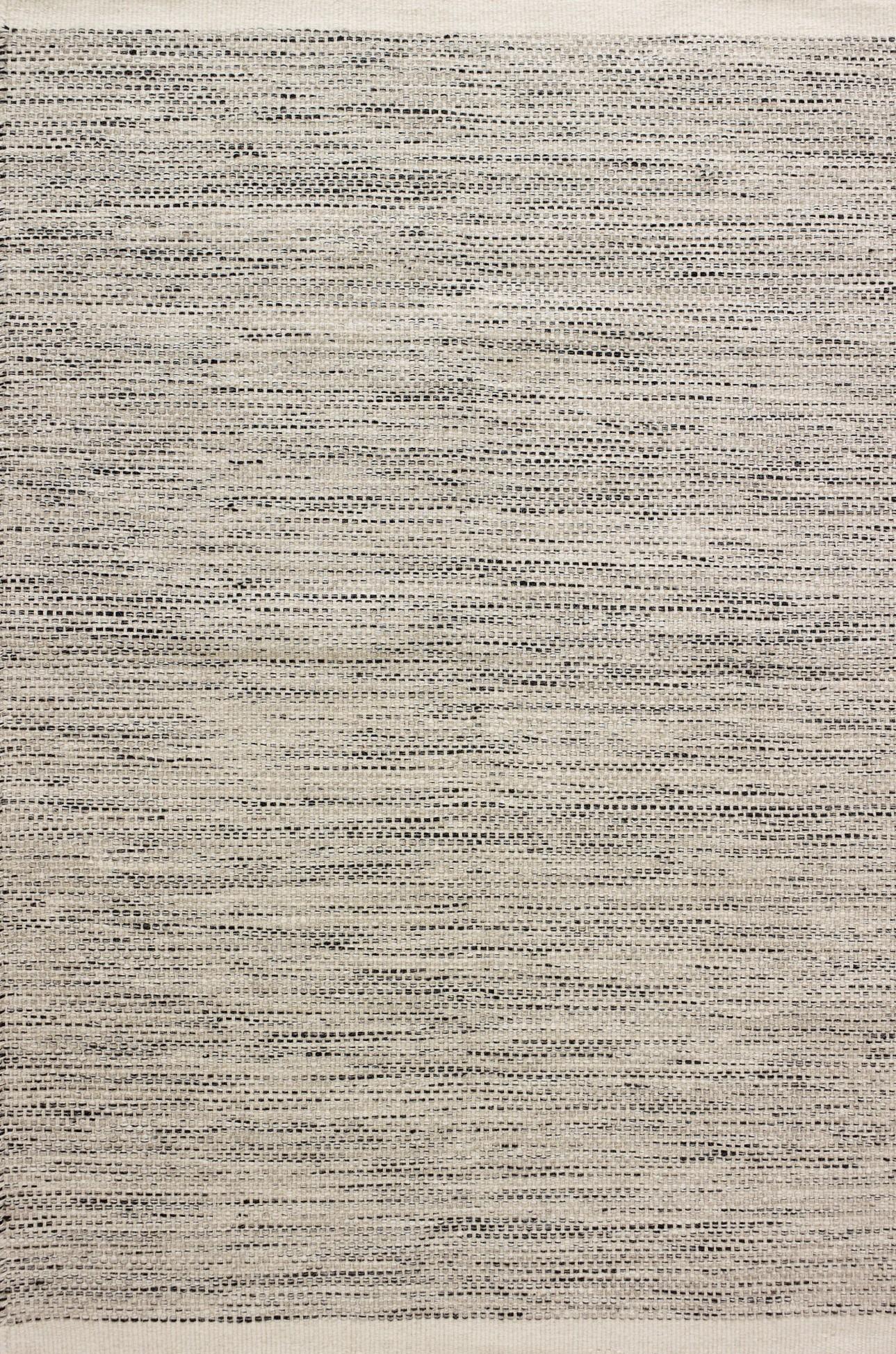 Rep Hand-Woven Flatweave Rug (Colour: Black, Rug Size: 160 x 230)
