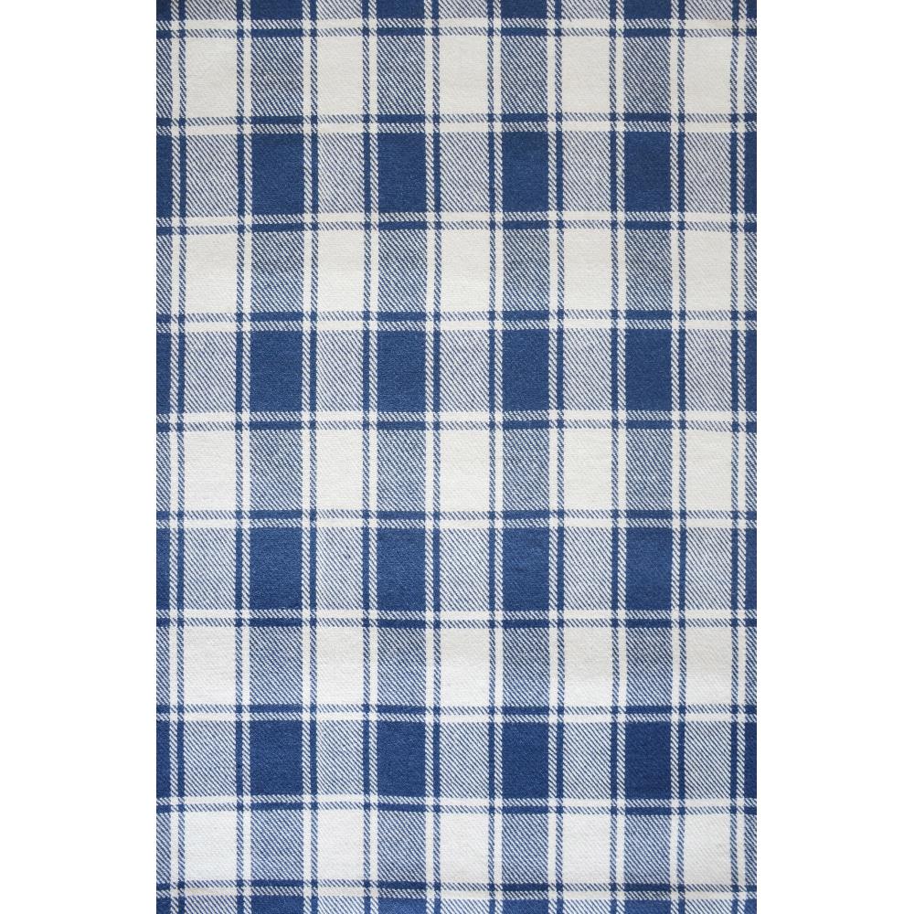 Tartan Hand-Woven Wool Rug (Colour: Blue, Rug Size: 160 x 230)
