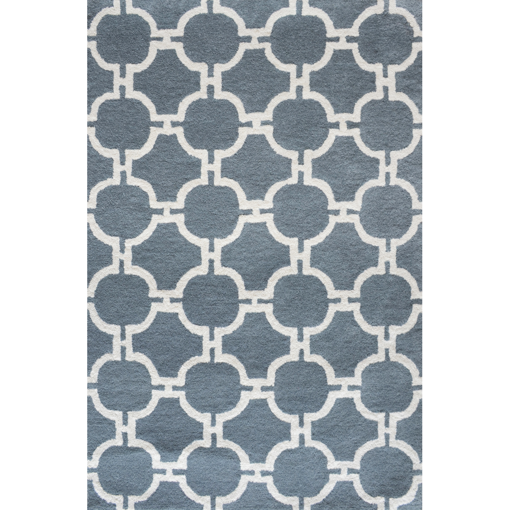 Trellis Hand-Tufted Wool Rug (Rug Size: 160 x 230, Colour: Grey)