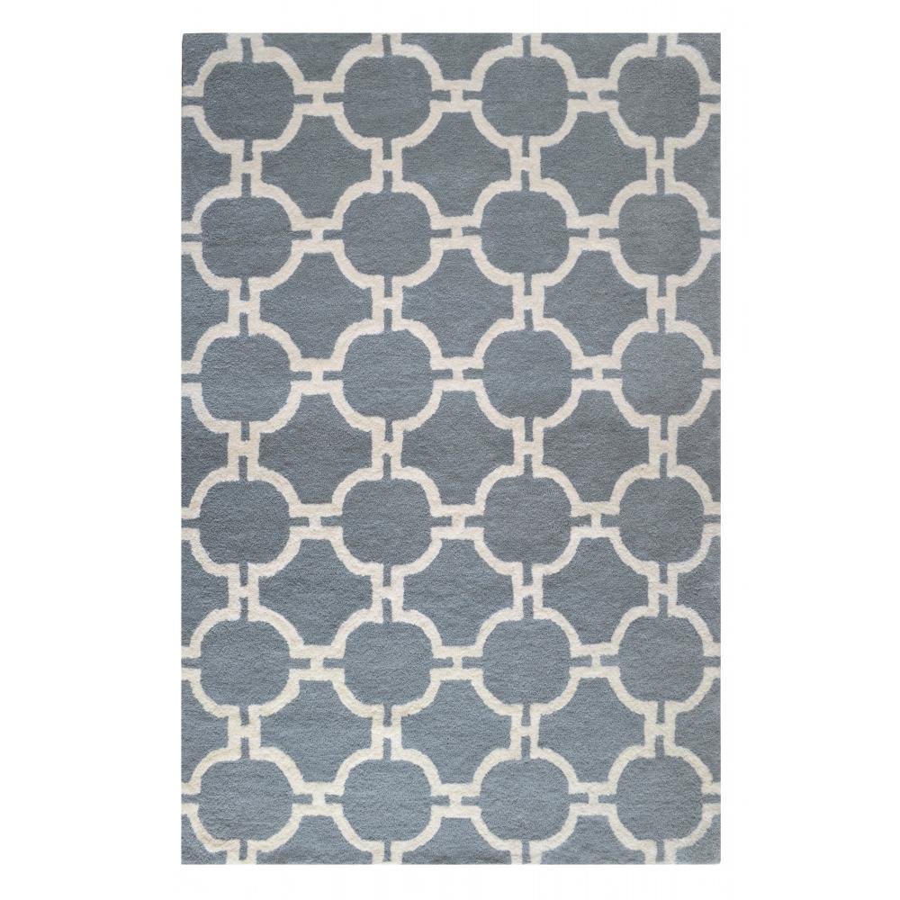 Trellis Hand-Tufted Wool Rug (Rug Size: 160 x 230, Colour: Gris)