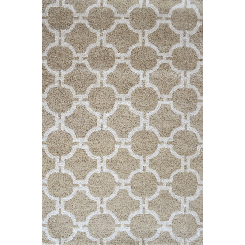 Trellis Hand-Tufted Wool Rug (Rug Size: 160 x 230, Colour: Taupe)