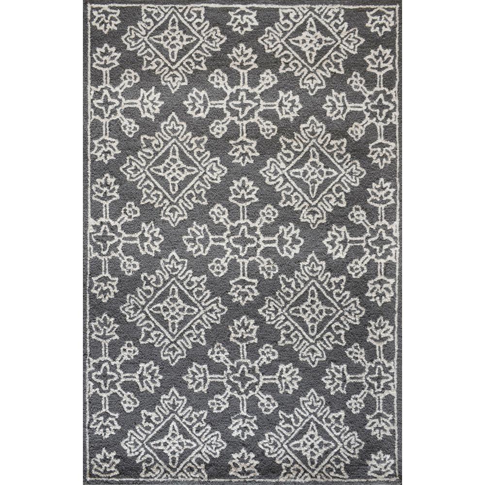 Zara Hand-Tufted Wool Rug (Rug Size: 160 x 230, Colour: Black)