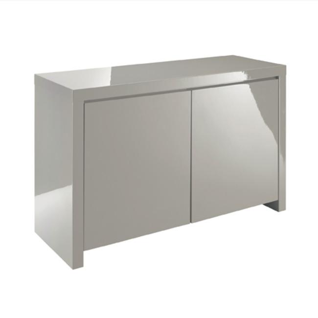 Puro Sideboard 2 Door High Gloss Stone (Colour: Stone)