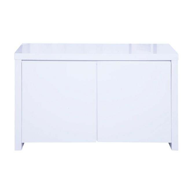 Puro Sideboard 2 Door High Gloss Stone (Colour: White)
