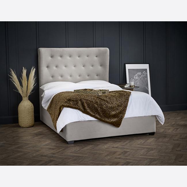 Belgravia Fabric Ottoman Storage Bed Frame (Bed Size: Double, Colour: Cappuccino)