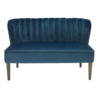 Bella 2 Seater Sofa Steel Midnight Blue