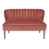 Bella 2 Seater Sofa Steel Pink