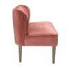 Bella 2 Seater Sofa Steel Pink side